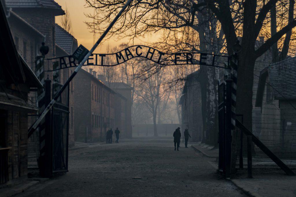 """""""Arbeit Macht Frei"""" Gate at Auschwitz I, Oświęcim, Poland"""