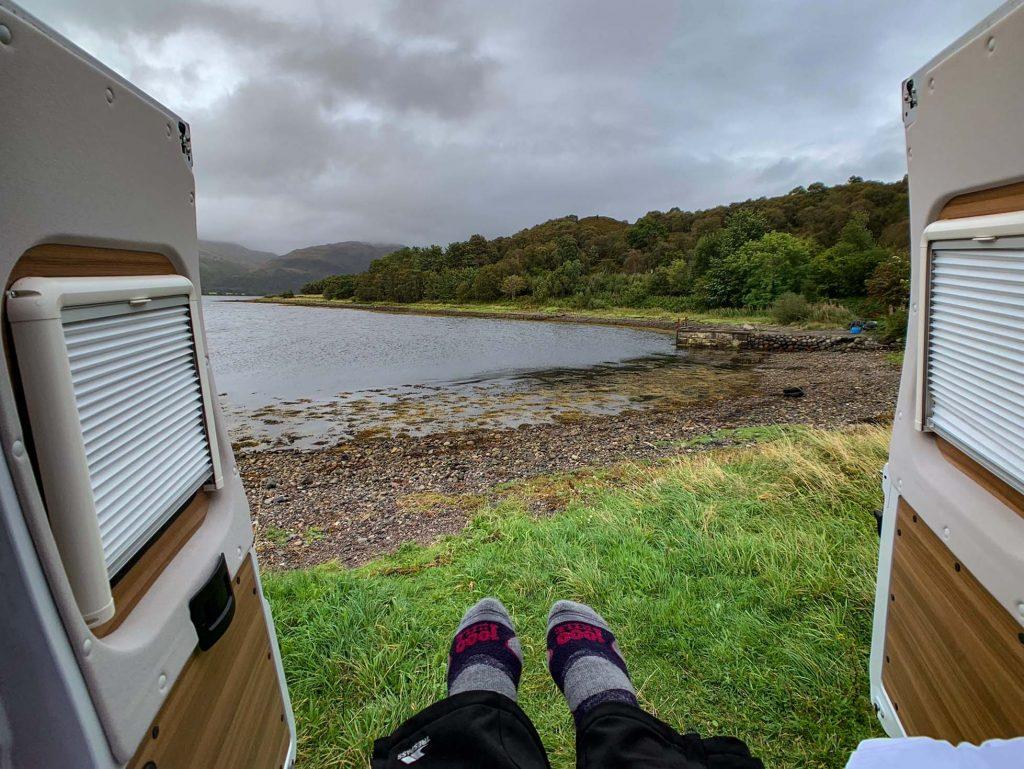 Scotland inside camper